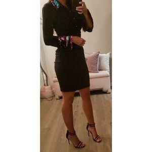 Boston Proper Sequin Collar Dress
